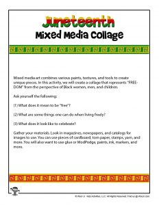 Juneteenth Art Collage Project Instructions