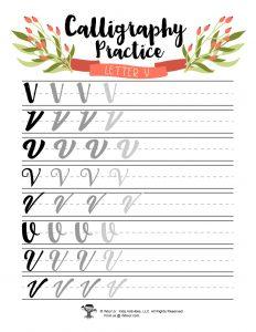 Letter V Ink Pen Fountain Pen Lettering