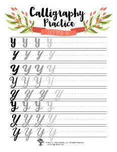 Letter Y BUJO Bullet Journal Handwritten