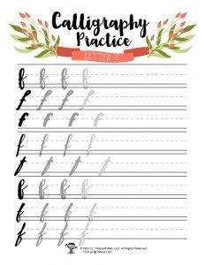Lowercase F Art Journaling Handwriting