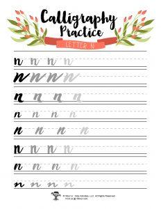 Lowercase N DIY Hand Lettering
