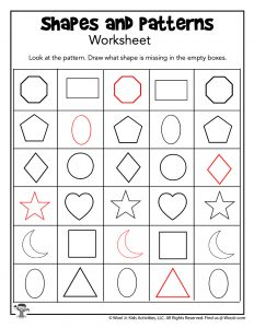 Missing Shapes Pattern Recognition- ANSWER KEY