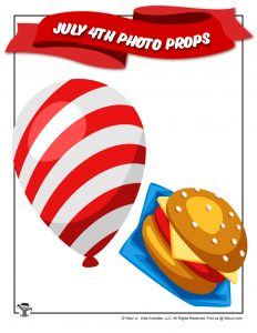 Printable Balloon Decor fo July 4th