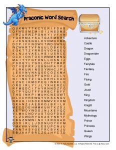 Dragon Word Search Elementary School
