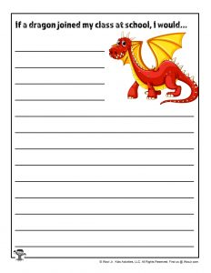 Printable Dragon Writing Prompt