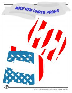 Patriotic USA Photo Booth Decorations