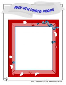 Red White and Blue Photo Frame Prop