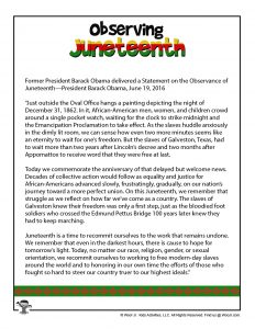 President Obama Juneteenth Speech