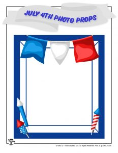 Printable USA July 4th Picture Frame