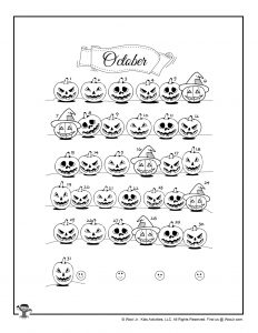 Scary October Jack-o-Lantern Mood Tracker