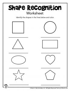 Identify the Shape Practice Page