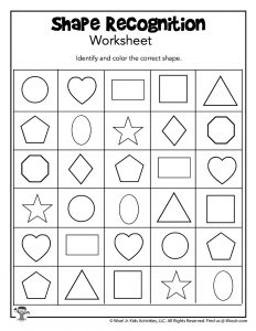 Identify and Color Shapes for Kindergarten