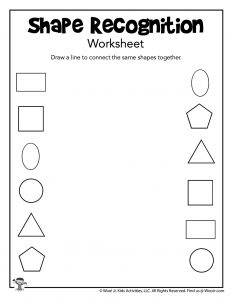Recognizing Shapes Worksheet