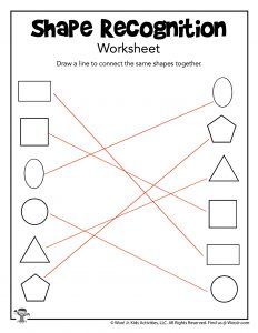 Recognizing Shapes Worksheet - ANSWER KEY
