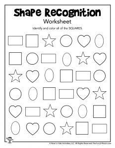 Shape Recognition Worksheet Squares