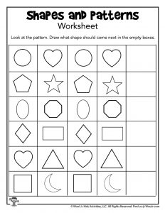 Shapes and Pattern Recognition Worksheet