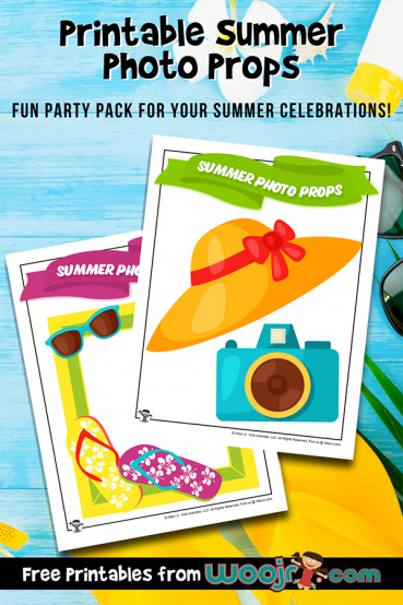 Printable Summer Photo Props