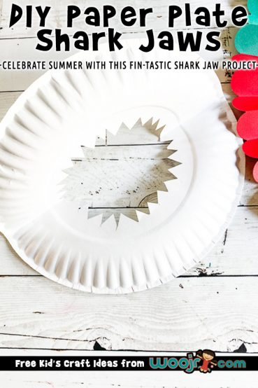 Paper Plate Shark Teeth Mask