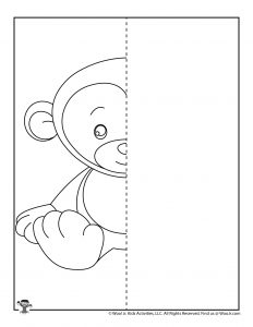 Monkey Animal Symmetry for Kids