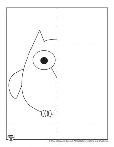 Owl Drawing a Symmetrical Animal
