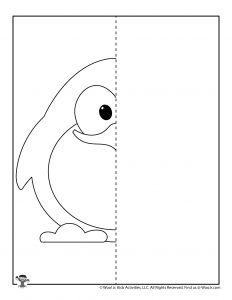 Penguin Finish the Picture Printable