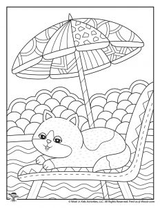 Cute Summer Adult Coloring