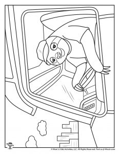 Delivery Driver Worker Coloring Sheet