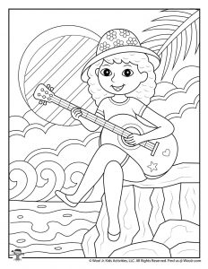 Easy Teen Summer Coloring Pages
