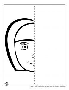 Face Complete the Drawing Printable