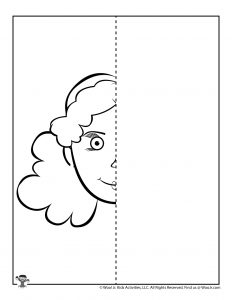 Symmetry Face Drawing Worksheet for Kids