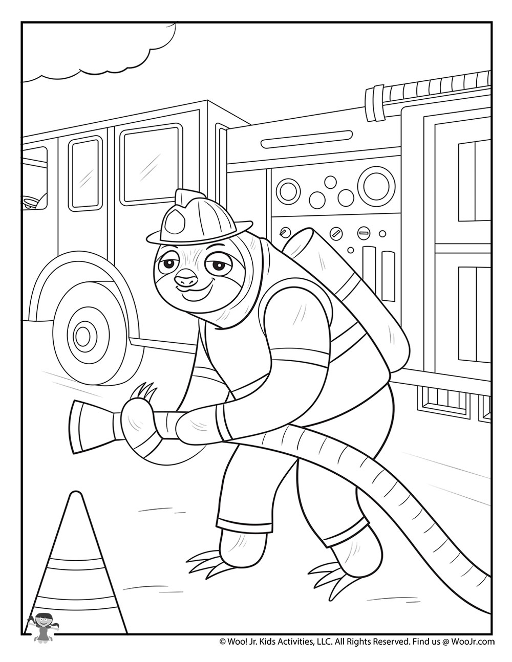 Firefighter Coloring Page   Woo! Jr. Kids Activities