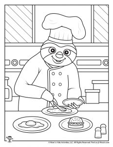 Lockdown Workers Coloring Page