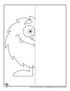 Monster Complete the Drawing Worksheet