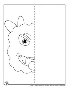 Symmetry Art Drawing Coloring Page