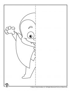 Little Vampire Drawing Worksheet for Kids