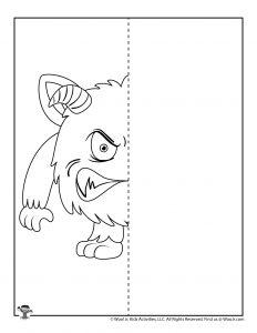 Monster Finish the Drawing Worksheet