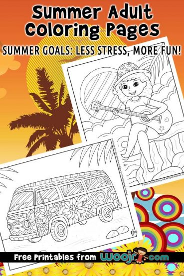 Summer Adult Coloring Pages
