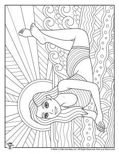 Summer Teen Coloring Pages