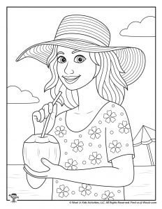 Summer Vacation Adult Coloring