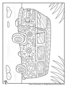 Surfer Bus Kombi Coloring