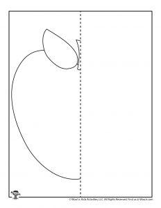 Apple Treat Symmetry Practice Worksheets
