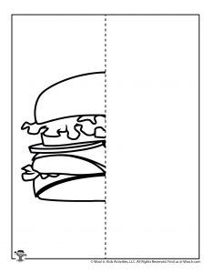 Burger Finish the Picture Drawing