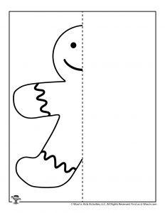 Gingerbread Mirror Drawing Practice