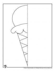 Ice Cream Cone Finish the Drawing