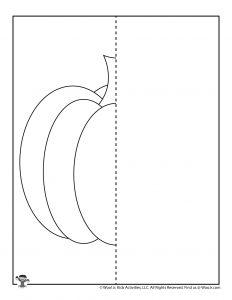 Pumpkin Drawing Symmetry Worksheet