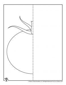 Tomato Mirror Drawing Worksheet