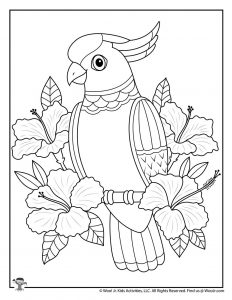 Tropical Adult Coloring Free