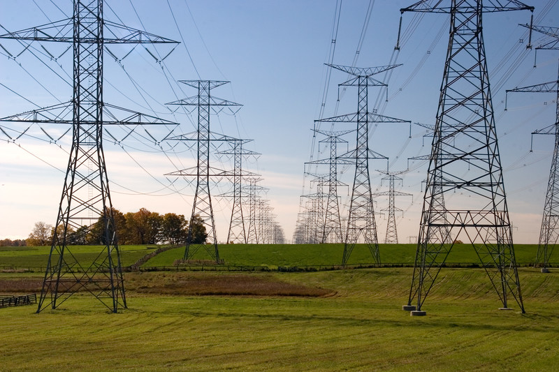 Current electricity flows through power lines