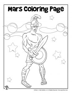 Mars Ares Coloring Page