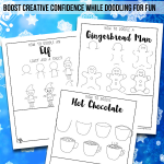 Winter & Christmas Drawing Doodles for Kids